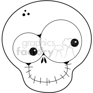 Skull Happy clipart. Commercial use image # 387262