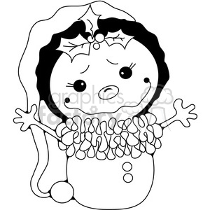 Snowman clipart. Commercial use image # 387272