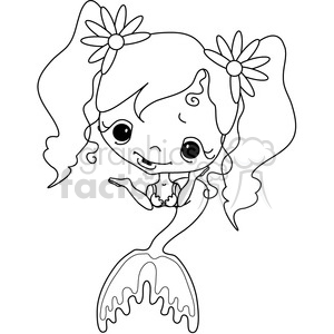 Girl 2 Doll Mermaid 3 clipart. Commercial use image # 387282