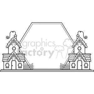 Cottages Sunset Sign clipart. Royalty-free image # 387292