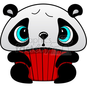 Cupcake Panda Bear in color clipart. Royalty-free image # 387302