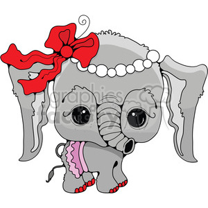 baby elephant in color clipart. Royalty-free image # 387344