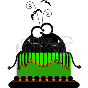 Halloween Party Cake clipart. Commercial use image # 387353