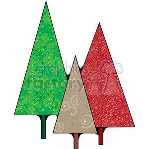 Christmas Trees clipart. Commercial use image # 387401