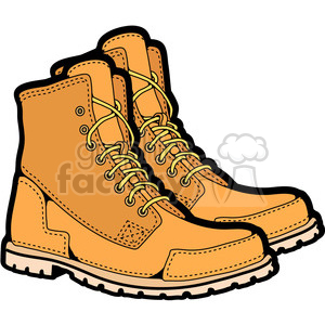 mens work boots in color clipart. Commercial use image # 387424