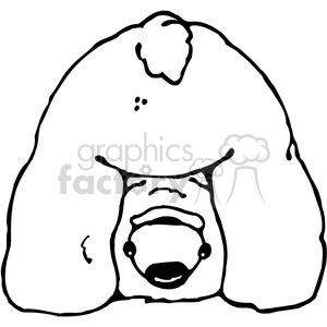 Polar Bear butt clipart. Royalty-free image # 387435