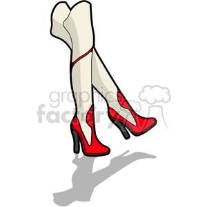 cartoon legs female high