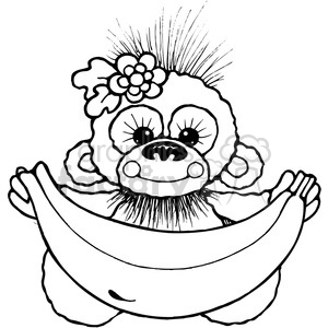 006 Banana Chimp clipart. Royalty-free image # 387531