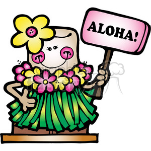 SMORE Hawaiin Aloha Girl COL animation. Royalty-free animation # 387571
