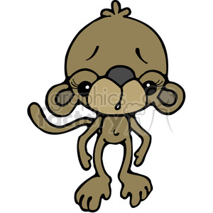 Monkey Worried in color clipart. Commercial use image # 387573