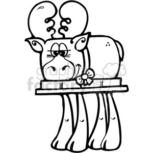SMORE Moose 2 clipart. Royalty-free image # 387603