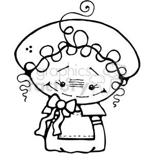 Pilgrim Girl clipart. Royalty-free image # 387642