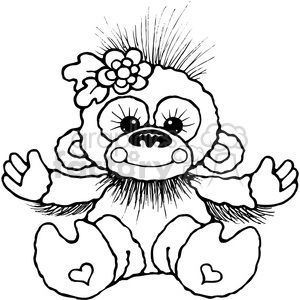 005 Banana Chimp clipart. Royalty-free image # 387665