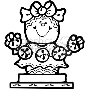 Smore Gingerbread Girl clipart. Royalty-free image # 387711