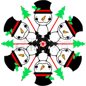 Snowman Wreath clipart. Commercial use image # 387730