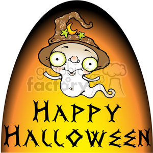 Happy Halloween clipart. Royalty-free image # 387750