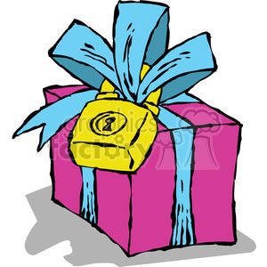 cartoon gift clipart. Commercial use image # 387808