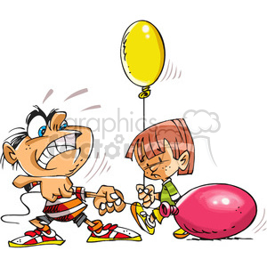 cartoon kids with balloons clipart. Commercial use image # 387934