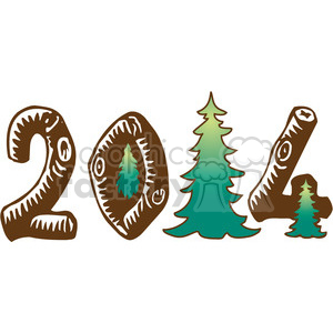 2014 forest woods clipart