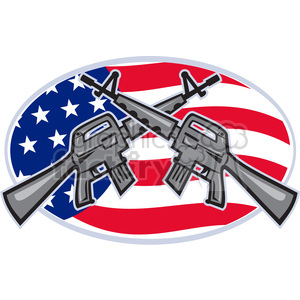 armalite rifle m 16 CROSSED clipart. Commercial use image # 388097