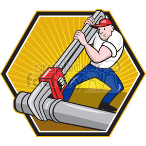 plumber giant wrench tube 001 clipart. Royalty-free image # 388167