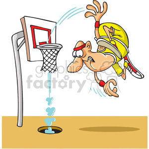 cartoon basketball slam dunk clipart. Royalty-free image # 388237