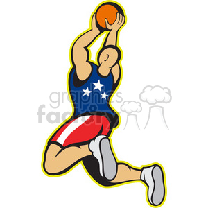 basketball player inair back clipart. Royalty-free image # 388257