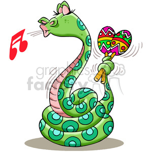 snake playing the maracas clipart. Royalty-free image # 388307
