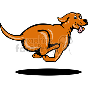 cartoon dog running clipart. Royalty-free image # 388377