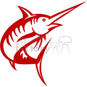 red swordfish left view clipart. Royalty-free image # 388445