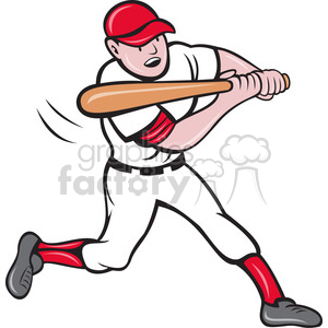 batter swinging clipart. Royalty-free image # 388475