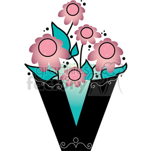 Letter V Vase clipart. Commercial use image # 388525
