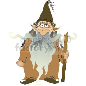Old Elf 01 clipart. Royalty-free image # 388615