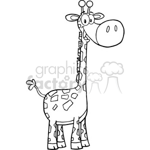 5625 Royalty Free Clip Art Happy Giraffe Cartoon Mascot Character clipart. Royalty-free image # 388685