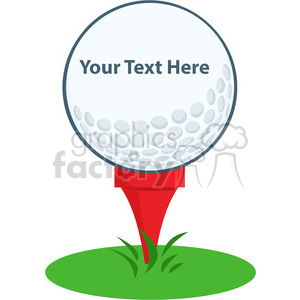 5697 Royalty Free Clip Art Golf Ball Tee Sign clipart. Royalty-free image # 388725