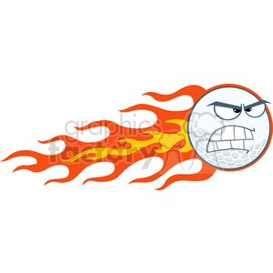 5710 Royalty Free Clip Art Angry Flaming Golf Ball Cartoon Mascot Character clipart. Royalty-free image # 388777