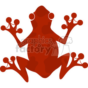 5640 Royalty Free Clip Art Red Frog Silhouette Logo