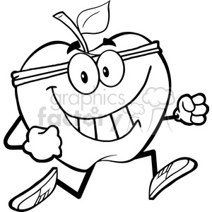 5961 Royalty Free Clip Art Healthy Apple Jogging clipart. Royalty-free image # 388927