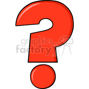 6249 Royalty Free Clip Art Cartoon Red Question Mark clipart. Royalty-free image # 389347