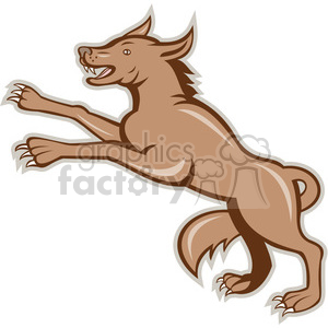 wolf on hind legs clipart. Royalty-free image # 389907