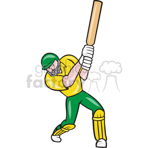 cricket batsman batting front rt clipart. Royalty-free image # 389927
