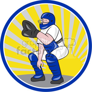 baseball catcher sign left clipart. Royalty-free image # 389937