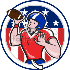 american football quarterback pass frnt HF clipart. Royalty-free image # 389957