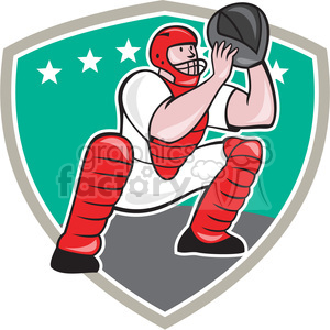 baseball catcher catching clipart. Royalty-free image # 389967