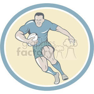 rugbyplayer holdingballrunning front clipart. Royalty-free image # 390023