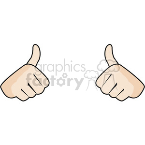 two thumbs up this girl likes image clipart. Royalty-free image # 390063