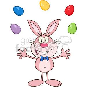 cartoon funny comic easter bunny rabbit character juggling