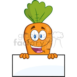 cartoon funny comic easter bunny rabbit character carrot vegetable food sign blank+sign