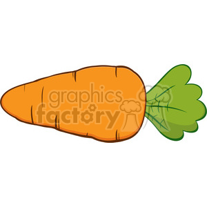 Royalty Free RF Clipart Illustration Cartoon Carrot clipart. Royalty-free image # 390263