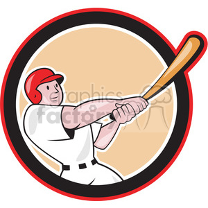baseball player batting point up front clipart. Royalty-free image # 390405
